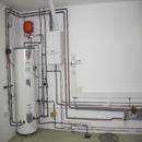 Boiler, Cylinder, Expansion Vessel, Pump and pipework to underfloor heating & hot water system in Banstead