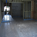 Insulated & protected floor ready for installation